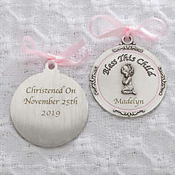Baptism Blessings Girl Crib Medallion