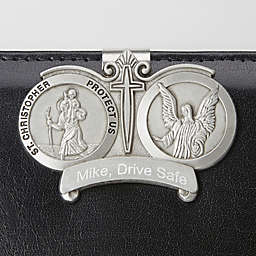 St. Christopher Engraved Visor Clip
