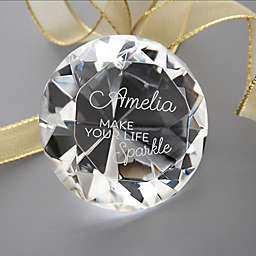 Make Your Life Sparkle Diamond Keepsake in Glass