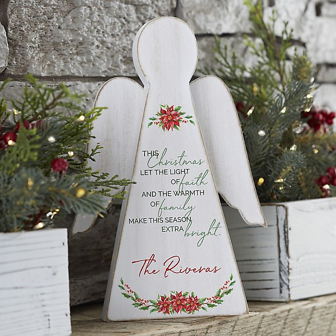 Alternate image 1 for Christmas Blessings Personalized Wood Angel