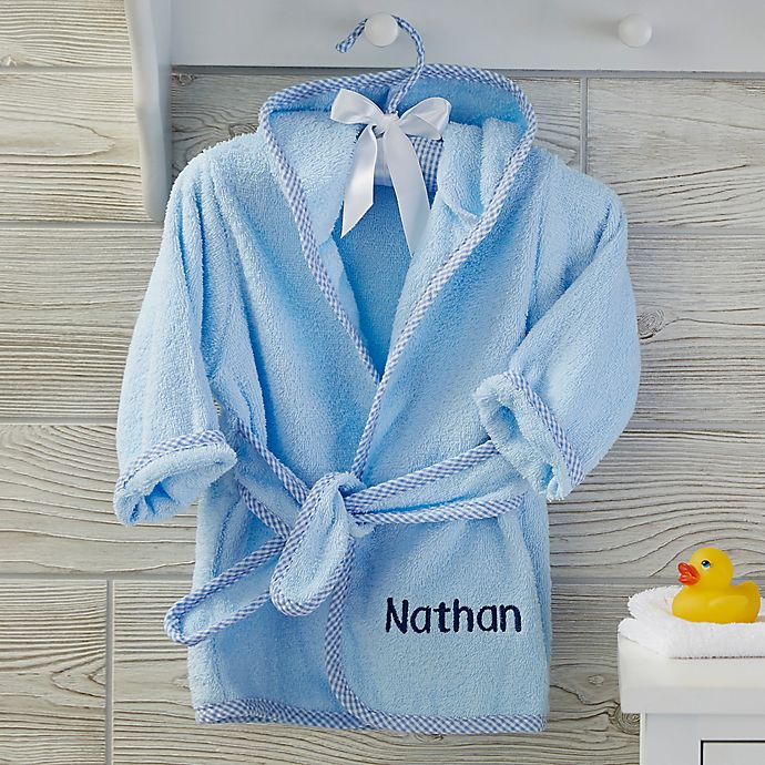 Alternate image 1 for Soft Terry Personalized Baby Robe