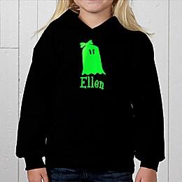 Glow-in-the-Dark Ghost Personalized Hooded Sweatshirt