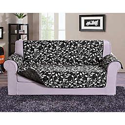 Leaf Sofa Protector in Black