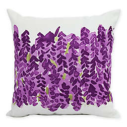 E By Design Market Flowers Bell Bunch Decorative Throw Pillow in Purple