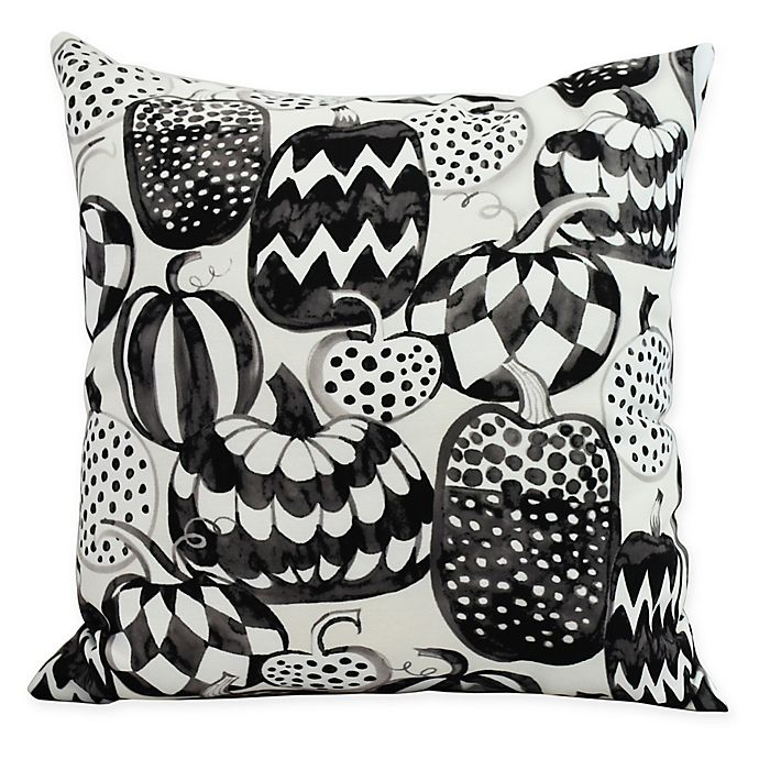 Alternate image 1 for E by Design Witches Brew Pumpkins Galore Square Throw Pillow in Cream