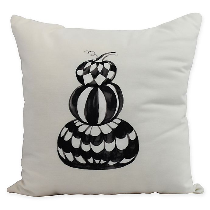 Alternate image 1 for E by Design Witches Brew Pumpkin Stack Square Throw Pillow in Cream