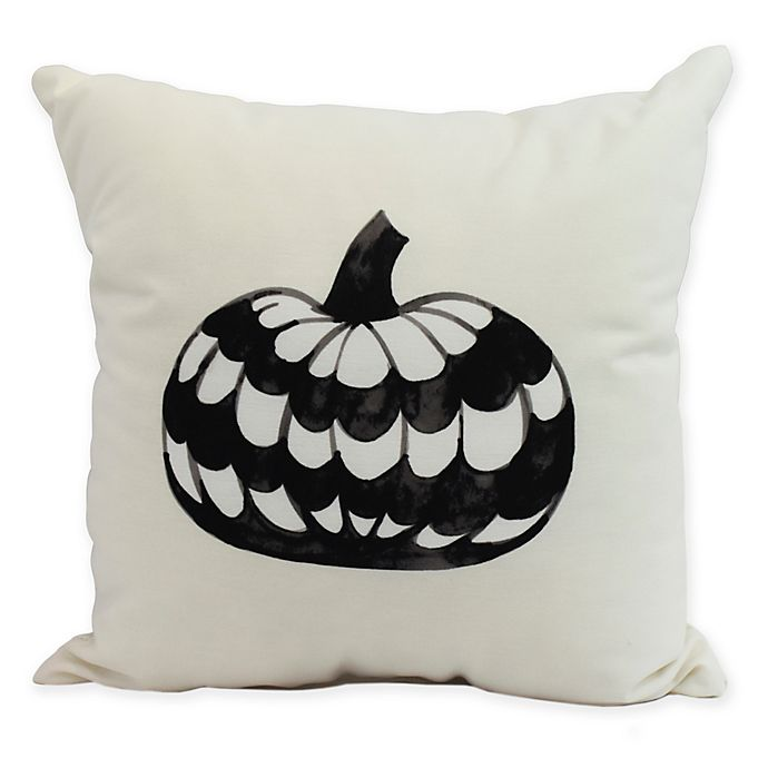 Alternate image 1 for E by Design Witches Brew Pumpkin Square Throw Pillow in Cream