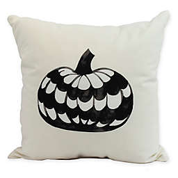 E by Design Witches Brew Pumpkin Square Throw Pillow in Cream