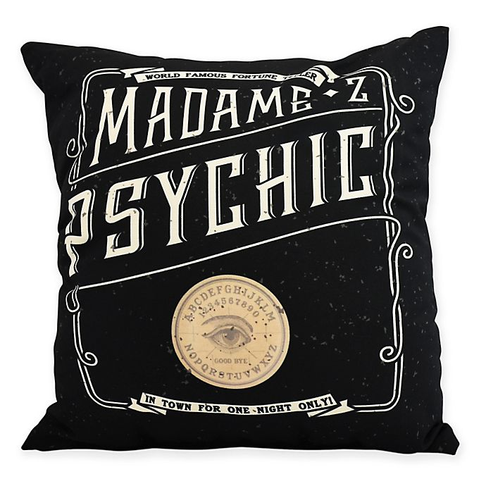 Alternate image 1 for E by Design Witches Brew The Psychic Eye Square Throw Pillow in Cream
