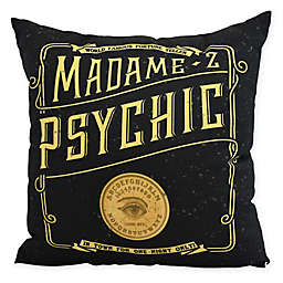 E by Design Witches Brew The Psychic Eye Square Throw Pillow in Gold/Yellow