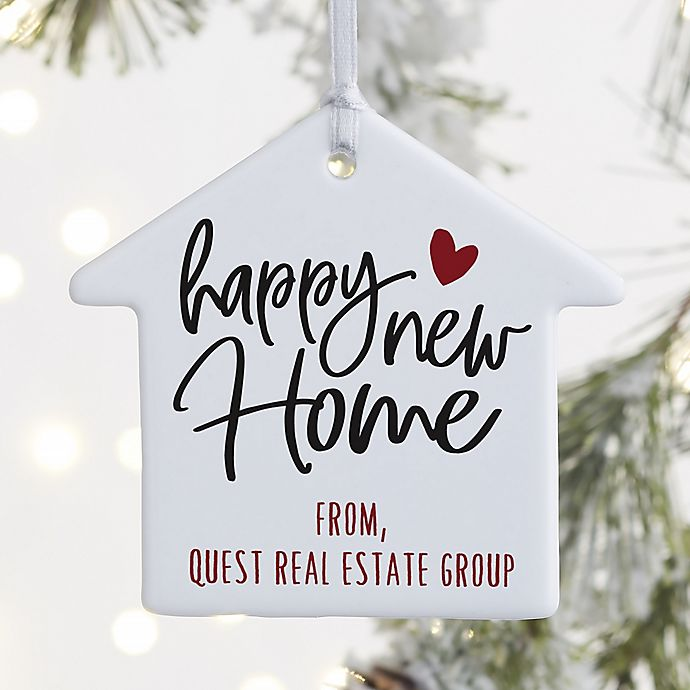 Alternate image 1 for 1-Sided Happy New Home Personalized House Ornament
