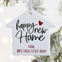 1-Sided Happy New Home Personalized House Ornament