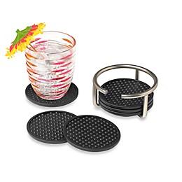 Spectrum™ Euro 6-Piece Coasters Set with Holder