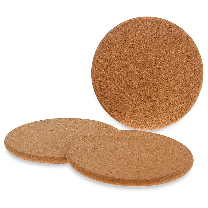 Alternate image 1 for Natural Cork Trivets (Set of 3)