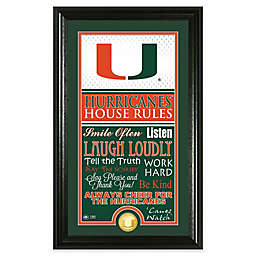 """University of Miami """"House Rules"""" Coin Photo Mint"""
