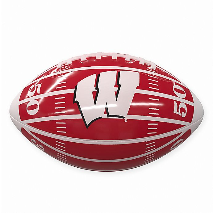 Alternate image 1 for University of Wisconsin Field Mini-Size Glossy Football