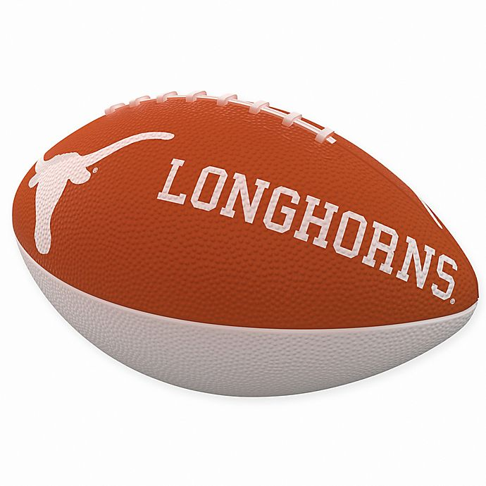 Alternate image 1 for University of Texas Combo Logo Junior-Size Rubber Football