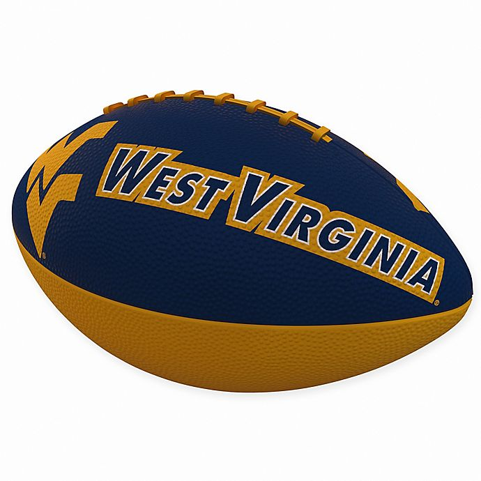 Alternate image 1 for West Virginia University Combo Logo Junior-Size Rubber Football
