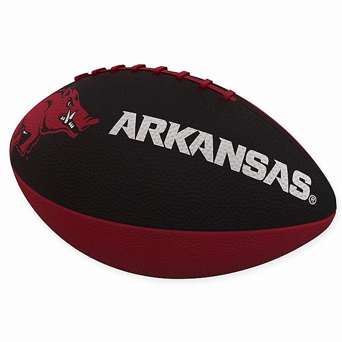 Alternate image 1 for University of Arkansas Combo Logo Junior-Size Rubber Football