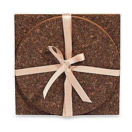 Thirstystone® 2-Piece Dark Cork Trivet Set