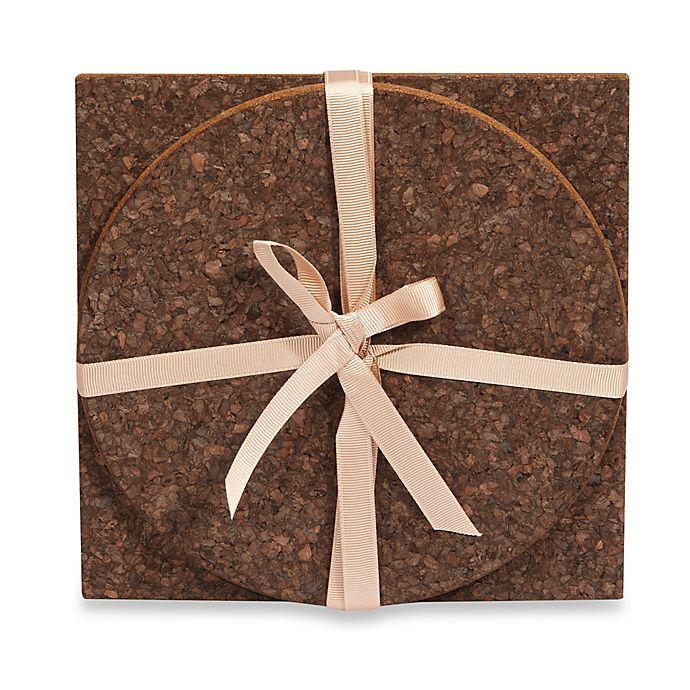 Alternate image 1 for Thirstystone® 2-Piece Dark Cork Trivet Set