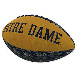 University of Notre Dame Repeating Logo Mini-Size Rubber Football