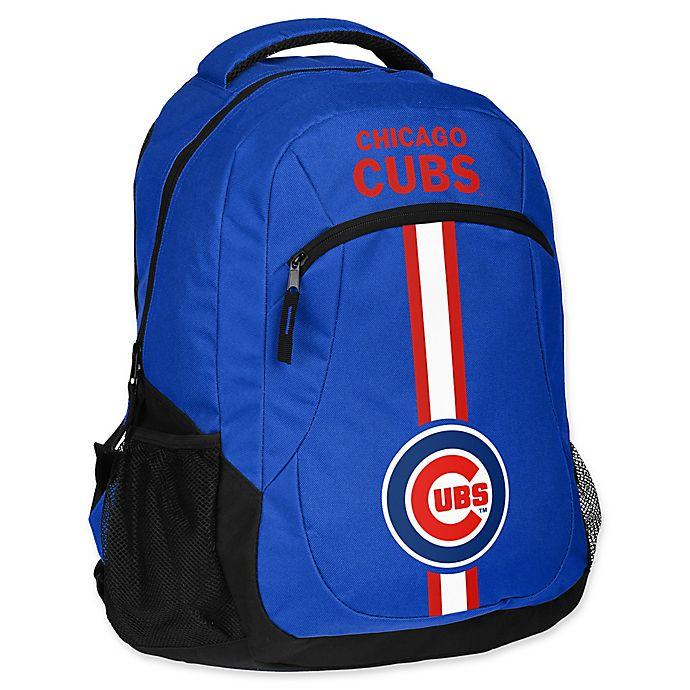 Alternate image 1 for MLB Chicago Cubs 18-Inch Action Stripe Backpack