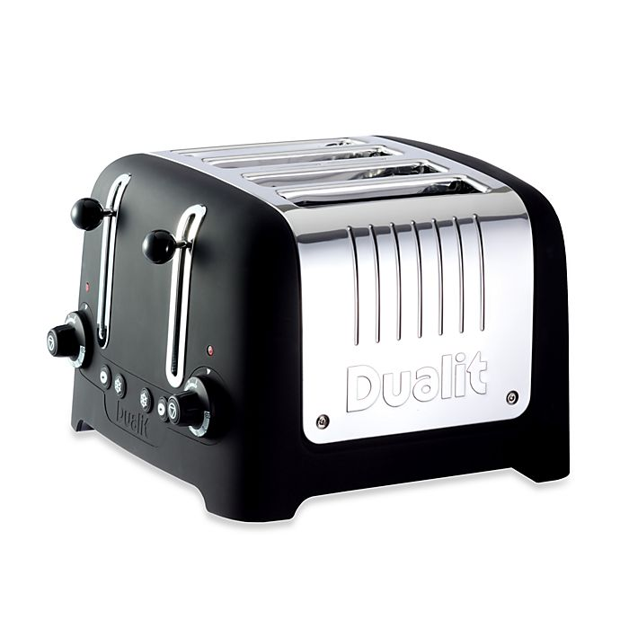 Dualit 174 Lite Chunky 4 Slice Toaster In Black Bed Bath