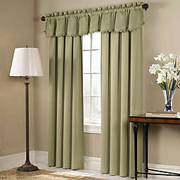 Blackstone Rod Pocket Room Darkening Window Curtain Panel, Valance and Tie-Up Shade