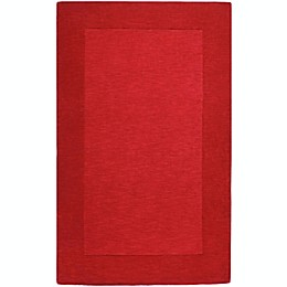 Surya Mystique Solid Handcrafted Rug in Dark Red