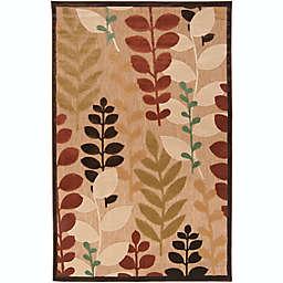 Surya Portera Floral Indoor/Outdoor Rug in Brown/Green