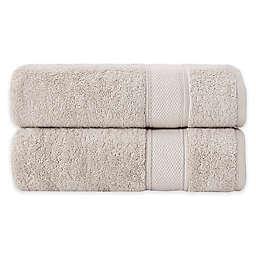 Grund Pinehurst 2-Piece Turkish Organic Cotton Hand Towel Set in Driftwood
