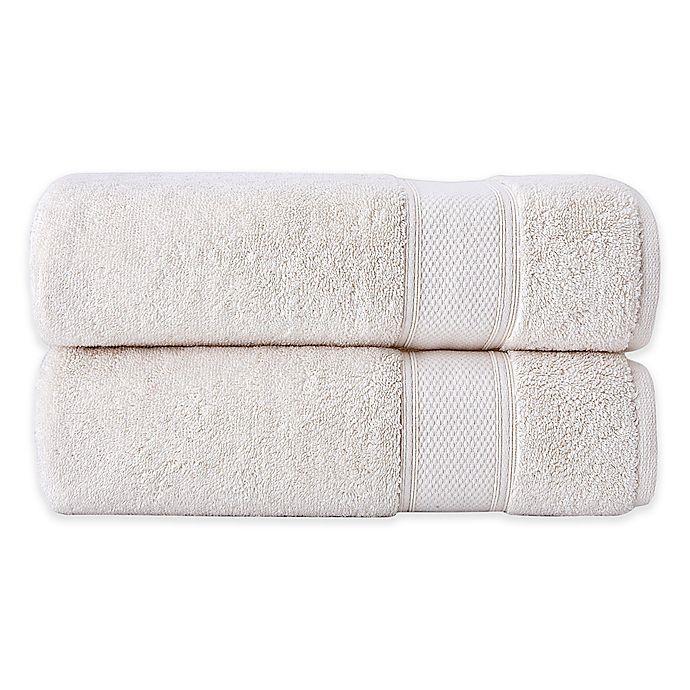 Alternate image 1 for Grund Pinehurst 2-Piece Turkish Organic Cotton Hand Towel Set in Ivory