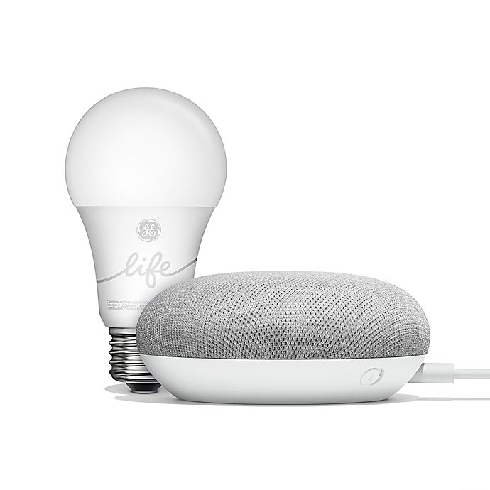 Alternate image 1 for Google Home Mini with GE C-life Smart Bulb