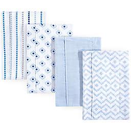 Hudson Baby 4-Pack Modern Boy Burp Cloth Set in Blue