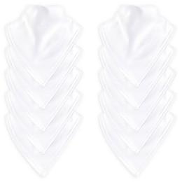 Luvable Friends® 10-Pack Basic Bandana Bib Set in White
