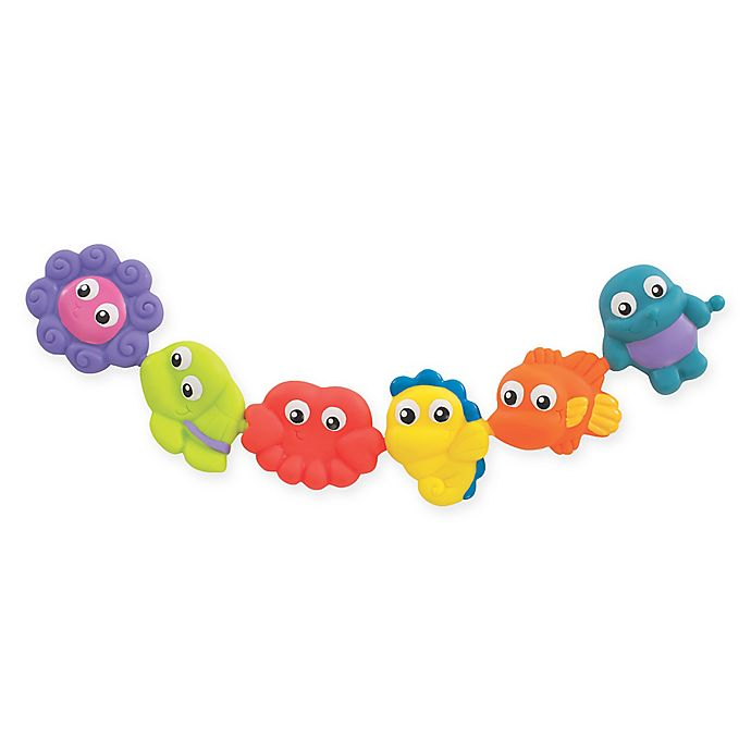 Alternate image 1 for Playgro™ Pop and Squirt Buddies (Set of 6)
