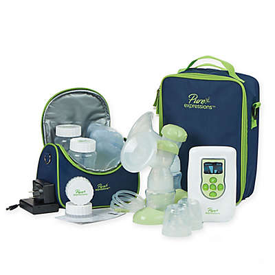 Drive Medical Pure Expressions™ Deluxe Dual Channel Electric Breast Pump in White