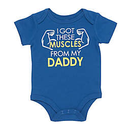 """Baby Starters® """"I Got These Muscles from My Daddy"""" Bodysuit in Blue"""