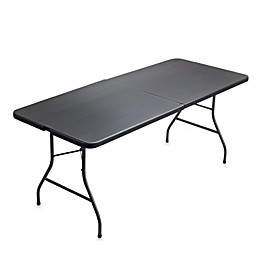 Cosco® 6-Foot Centerfold Blow Molded Table in Black