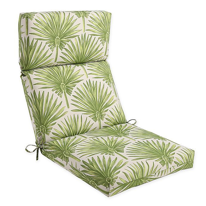 Alternate image 1 for Outdoor High Back Chair Cushion in Green Palm