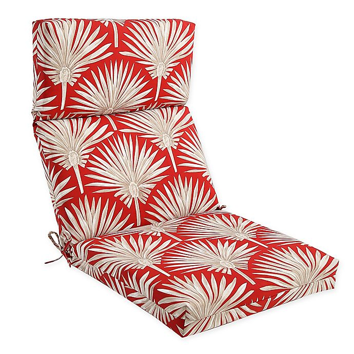 Alternate image 1 for Outdoor High Back Chair Cushion in Spice Palm