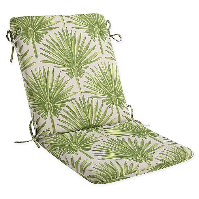 Alternate image 1 for Print Indoor/Outdoor Mid Back Cushion in Green Palm