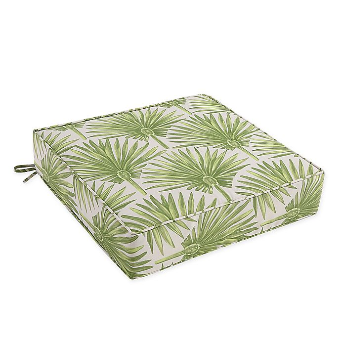 Alternate image 1 for Outdoor Deep Seat Cushion in Green Palm