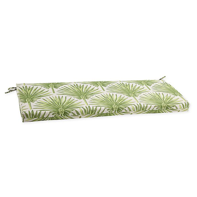 Alternate image 1 for Print Indoor/Outdoor Bench Cushion in Green Palm