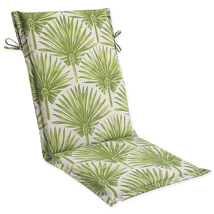 Alternate image 1 for Print Outdoor Sling Chair Cushion in Green Palm