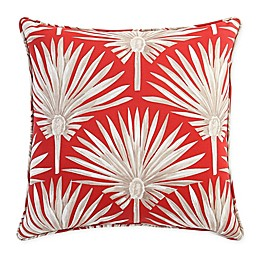 Destination Summer Palm Square Indoor/Outdoor Throw Pillow