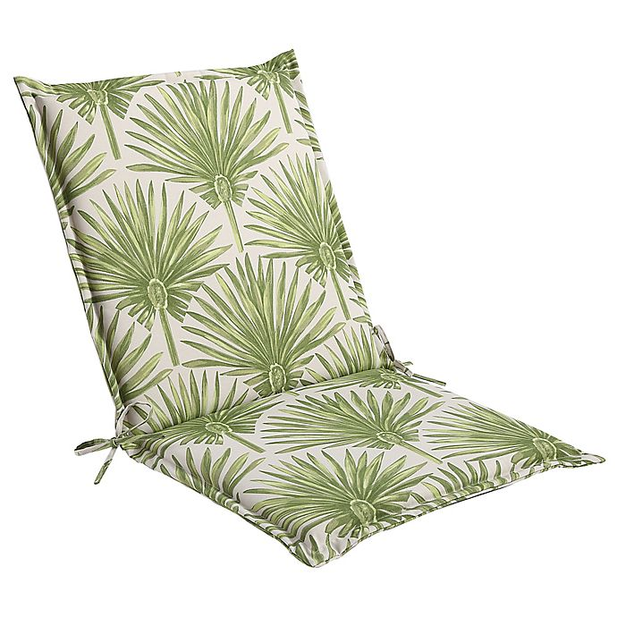 Alternate image 1 for Print Indoor/Outdoor Folding Sling Chair Cushion in Green Palm