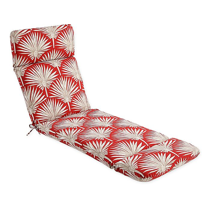 Alternate image 1 for Print Indoor/Outdoor Chaise Lounge Chair Cushion in Spice Palm