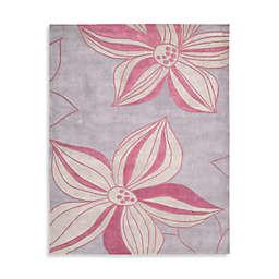 Nourison Contours Floral Rugs in Violet